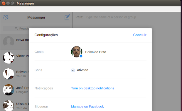 Como instalar um Facebook Messenger no Linux com o Messenger for Desktop