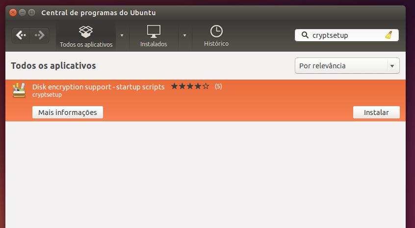 Como criptografar um pendrive para uso apenas no Linux