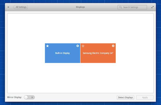 Elementary OS Freya Configurações de exibição
