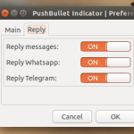 Pushbullet Indicator - responda WhatsApp, SMS e Telegram no desktop
