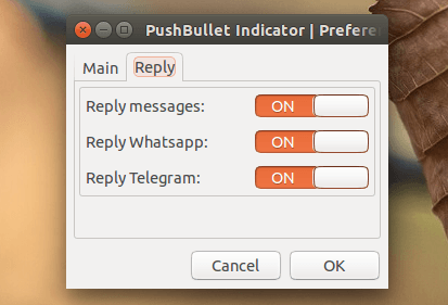 Pushbullet Indicator - responda WhatsApp, SMS e Telegram no desktop