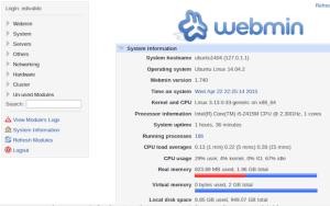 webmin no ubuntu debian