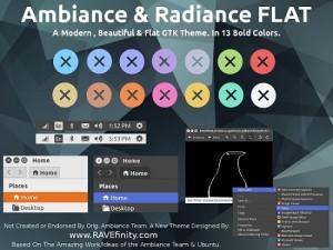 Instalando o tema Ambiance e Radiance Flat Colors no Ubuntu
