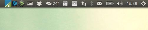 Bandeja do sistema no Ubuntu sob demanda com o Indicator Systemtray Unity