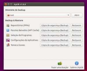 Backup e restauração de apps: Instale o Aptik