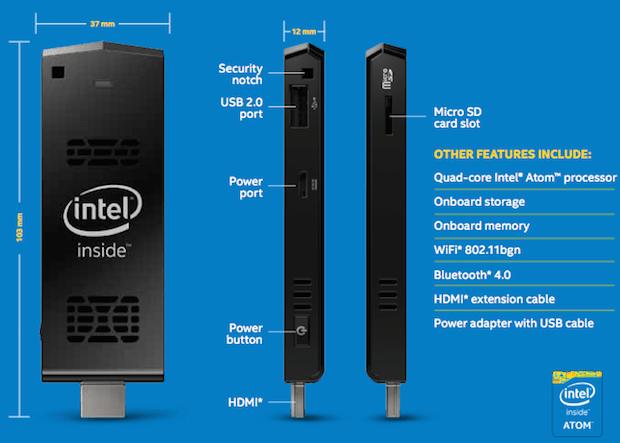Mini PC com Ubuntu Intel Compute Stick