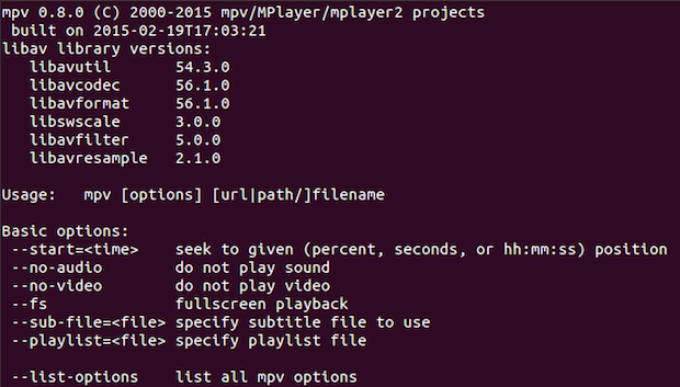 Como instalar o reprodutor MPV no Ubuntu e derivados