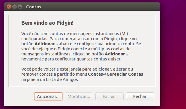 chat do Facebook no Pidgin com o Purple Facebook