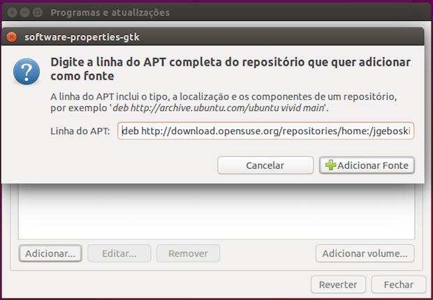 adicionar repositorio 6 - Como instalar o 4K Video Downloader no Linux