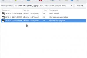 Instalando um aplicativo de restauração do sistema no Ubuntu e outras distros