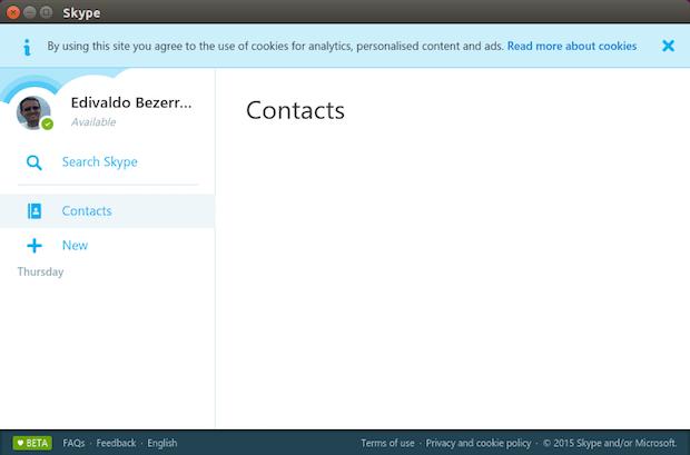 Skype Web no Linux