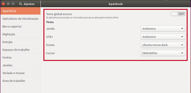Como mudar o tema e conjunto de ícones padrão do Ubuntu