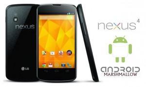Android 6.0 para o Nexus 4 e 10