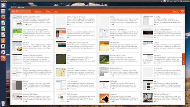 Alternativa a Central de programas do Ubuntu - Instale App Grid