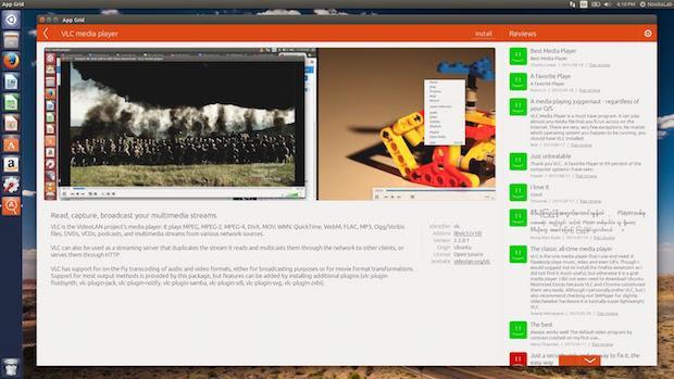 Alternativa a Central de programas do Ubuntu - Instale App Grid