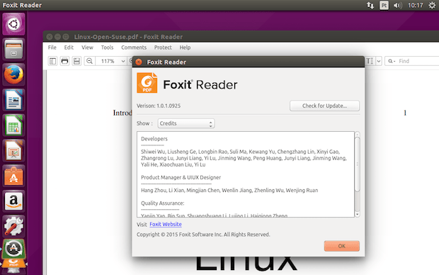 Como instalar o leitor de PDF Foxit Reader no Linux