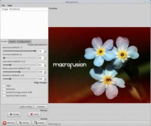 Como instalar o programa de fotografia Macrofusion no Ubuntu