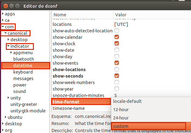 Como personalizar o formato de data e hora no painel do Ubuntu