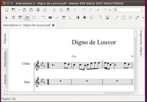 Editar arquivos PDF no Linux com Master PDF Editor
