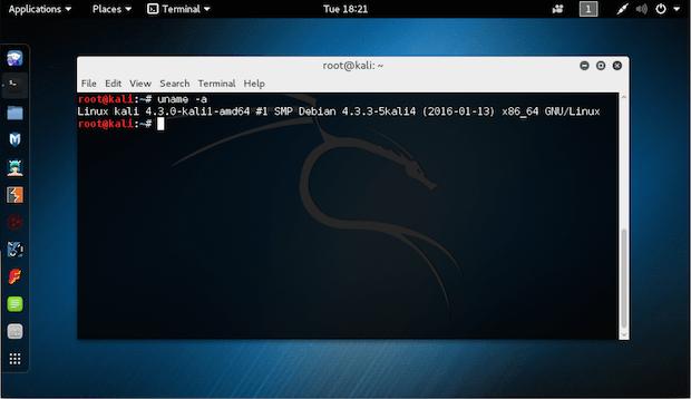 Kali Linux Rolling release 2016.1 já está disponível para download