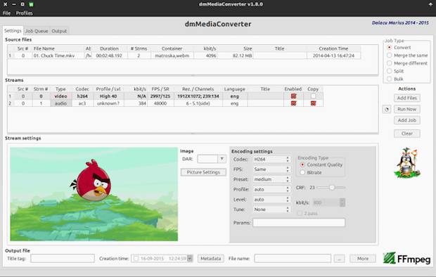 Conversor de arquivos multimídia: Instale o dmMediaConverter no Linux