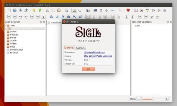 Como instalar a última versão do editor de EPUB Sigil no Ubuntu
