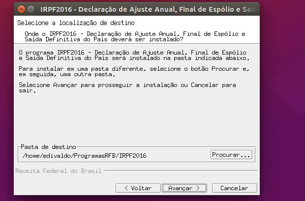 Como instalar o programa IRPF 2016 no Linux