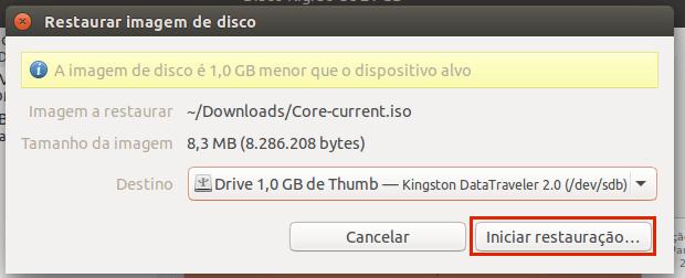 Como criar um pendrive inicializável com GNOME Disks