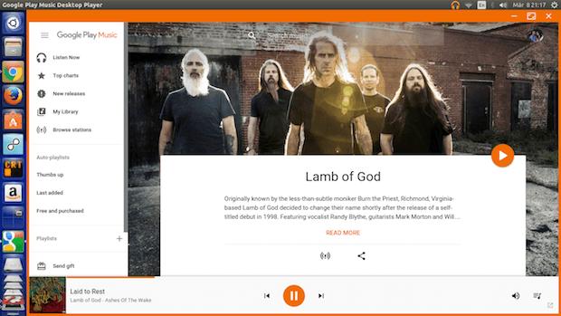 Como instalar o Google Play Music Desktop no Linux