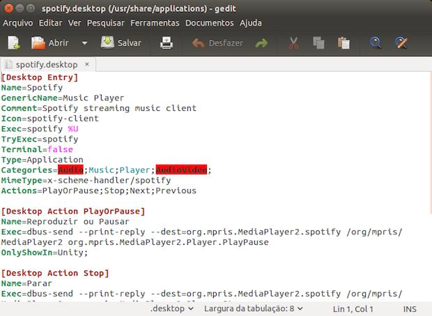 Como criar uma Unity Quicklist para controlar o Spotify no Linux