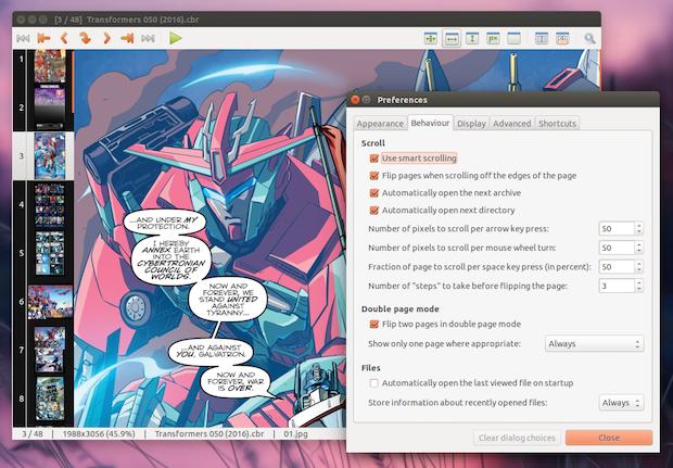 instalar leitor de quadrinhos mcomix no ubuntu 2 - Instale o Split View Patch e tenha visualização dividida no Thunar