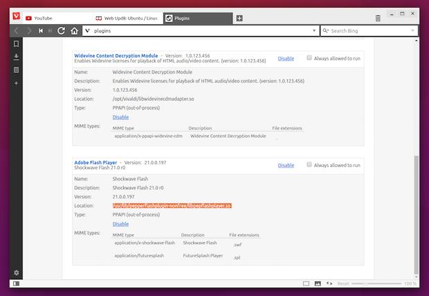 Como adicionar suporte ao Flash e H.264 no navegador Vivaldi
