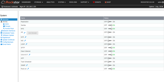 Rockstor 3.9.0 já está disponível para download