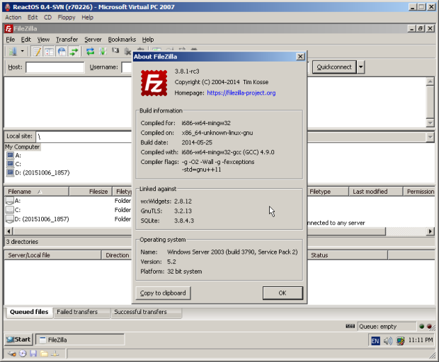 ReactOS 0.4.1 já está disponível para download