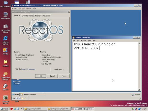 ReactOS 0.4.2 já está disponível para download