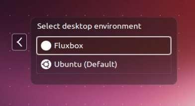 Não quero usar Unity, prefiro o Fluxbox no Ubuntu