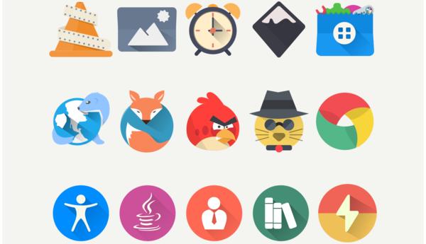 Instalando o conjunto de ícones planos Oranchelo no Ubuntu