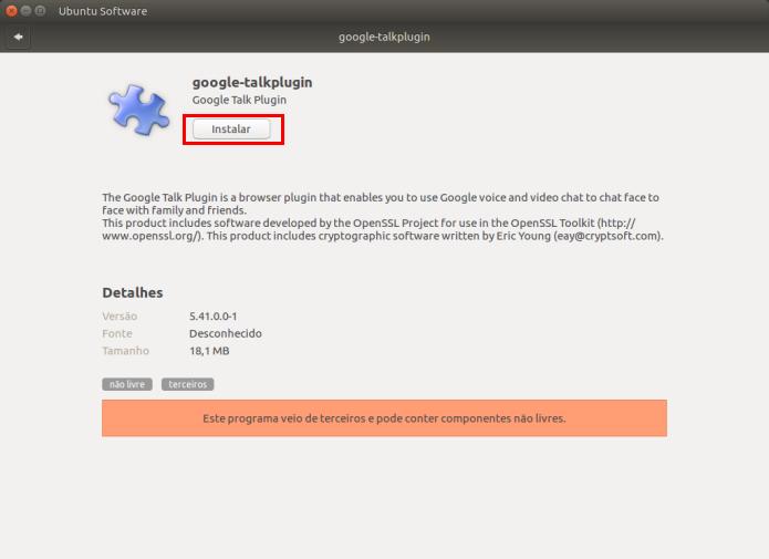 Videochamadas no Gtalk: Instalando o plugin Google Talk no Ubuntu
