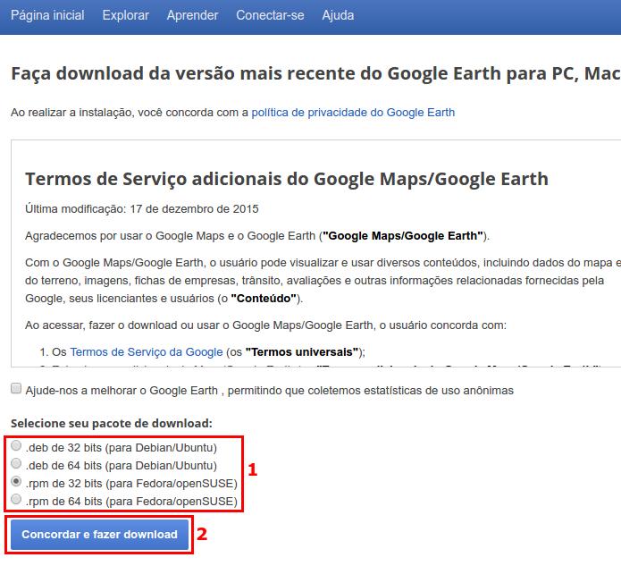 Como instalar o Google Earth no Ubuntu e derivados