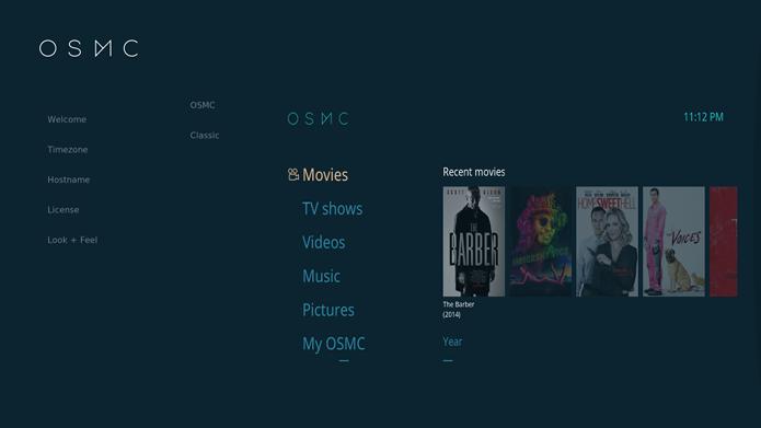OSMC - Um linux para Raspberry Pi que vem com Kodi media center