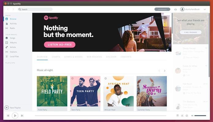 Como instalar o Spotify no Ubuntu com o tema leve Spotio