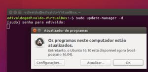 Como atualizar para o Ubuntu 16.10 na versão desktop