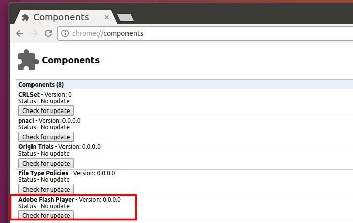 Como corrigir o erro 'Adobe Flash está desatualizado' no Chrome do Ubuntu 16.10