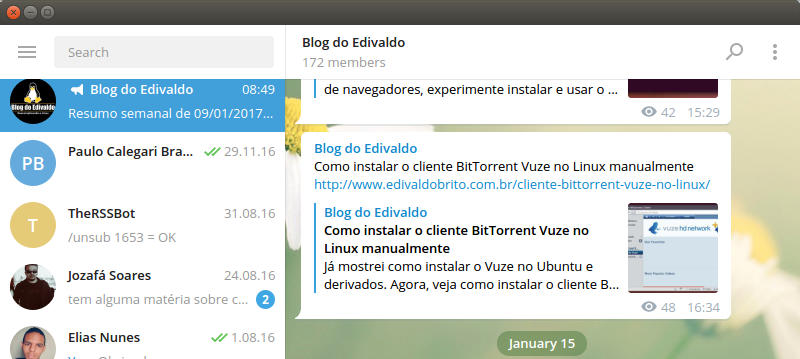 Telegram no Ubuntu e Fedora: como instalar a versão oficial via repositório e Snap