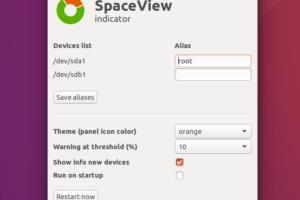 Use o SpaceView indicator para ver espaço em disco no linux