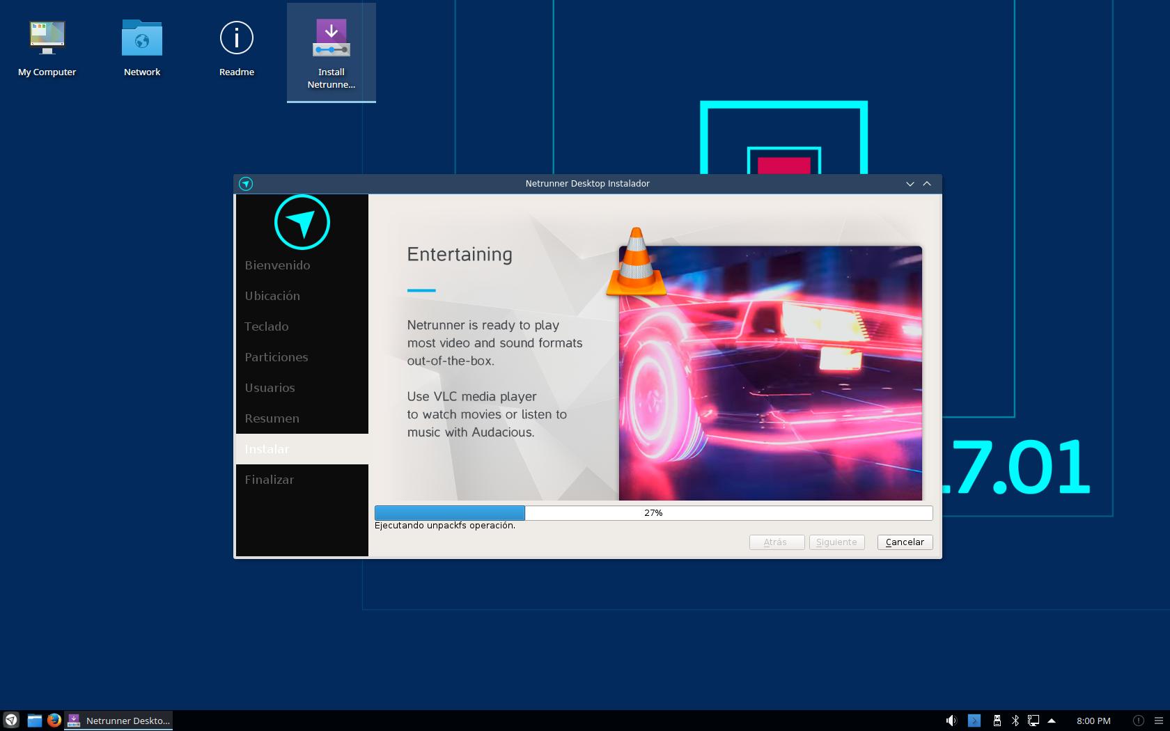 Netrunner Desktop 17.01.2 já está disponível para download