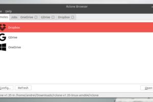 Use vários serviços de armazenamento na nuvem com RcloneBrowser
