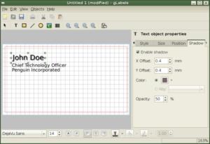 Instalando o editor de etiquetas ou cartões de visitas gLabels no Ubuntu