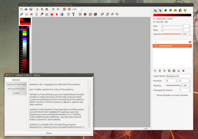 Como instalar o MtPaint no Ubuntu , Mint e derivados