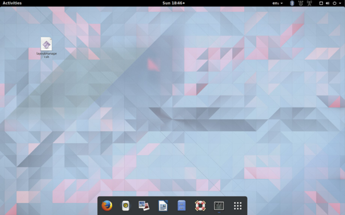 GNOME com visual do Unity, Mac ou Windows com o GNOME Layout Manager